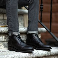 Mens Fashion Night Out Black Ankle Boots Outfit, High Ankle Boots, Shoe Boots, Man Boots, Black Shoes, Mens Boots Fashion, Suede Leather Shoes, Cowhide Leather, Casual Shoes