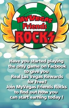 Re-Pin and Win with MyVegas Friends Rocks. We are the only 100% MyVegas dedicated fan group on Facebook. Giving you all the information, game play and fun you need to reap the MyVegas rewards. www.facebook.com/... #MyVegasFriendsRocks #MyVegas