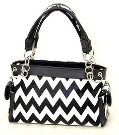 Black Chevron Gun Concealment Handbag, $40.00