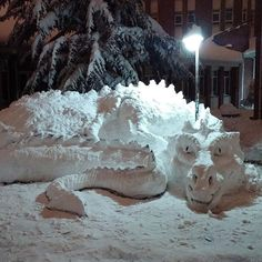 Awesome Snow Dragon