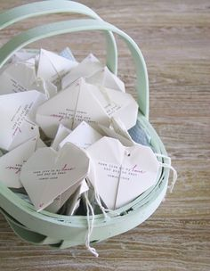 These origami picks are like little love notes for each of your guests.