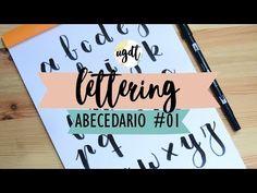Abecedario #2 - Tutorial lettering - Rotulador tombow dual brush - UGDT - YouTube Calligraphy Alphabet, Calligraphy Fonts, Lettering, Paper Crafts, Diy Crafts, Planner, Brush Pen, Diy Tutorial, Pens