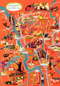 Gastronomic Maps of the Dr. Schwartz Corporation, 1961.        Like it!      Share this