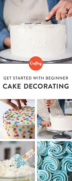Interested in cake decorating? Craftsy's comprehensive beginner�s class, will teach you how to bake and construct a variety of one-tiered frosted cakes with professional-quality results. Along the way, discover essential tools, materials and techniques, including fondant and buttercream, sugar flowers, piping, hand modeling and much more.