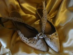 "Victor Alfaro ""Perdido"" Shoes  3"" Heels, Dress Cutout Slingback,Size 8 M, Tan #VictorAlfaro #Slingbacks"