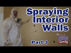 Spraying Interior Walls With An Airless Paint Sprayer. Part 3 - YouTube