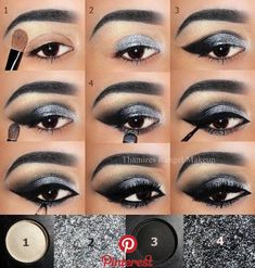 Trendy Makeup Bronze Smokey Eye Tutorial - Prom Makeup Looks Eye Makeup Steps, Smokey Eye Makeup, Eyebrow Makeup, Eyeshadow Makeup, Matte Eyeshadow, Younique Eyeshadow, Silver Smokey Eye, Eyeshadow Palette, Orange Eyeshadow