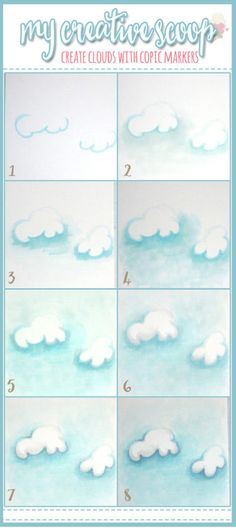 How to Create Clouds using Copic Markers