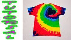 DIY Tie Dye Rainbow Spiral Heart Shirt [Tutorial]