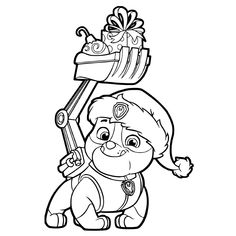 PAW Patrol Super Pups Chase and Marshall Colouring Page ...
