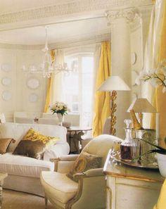 Myra Hoefer design, this sunny Parisian apartment, off the boulevard St. Germain on the Left Bank via trouvais.com