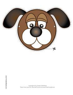 Dog Mask Printable Mask, free to download and print