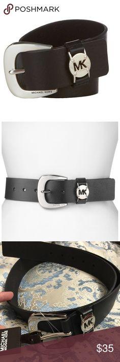 Michael Kors Leather MK Logo Keeper Belt Sz Michael Kors Leather MK Logo Keeper Belt - brand new! I have size S and L. Michael Kors Accessories Belts
