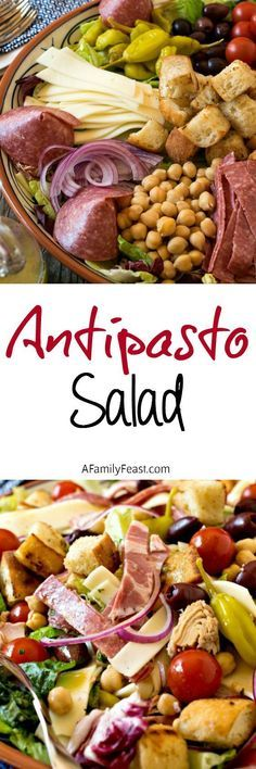 Antipasto Salad - This classic Italian salad is simple and delicious! This is a pretty presentation. Healthy Salads, Healthy Eating, Healthy Recipes, Salad Dressing Recipes, Salad Recipes, Antipasto Recipes, Antipasto Platter, Italian Dishes, Italian Recipes
