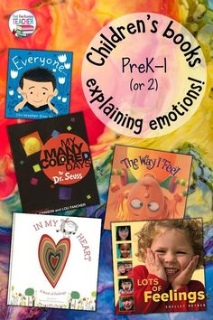 These are some of my favorite children's books that explain emotions and how they provide natural transitions into conversations with kids. C'mon in! (Link to a freebie inside, too!) Back To School Activities, Reading Activities, Emotions Activities, Teaching Reading, Kindergarten Lesson Plans, Kindergarten Literacy, Preschool, Teaching Resources, Teaching Ideas