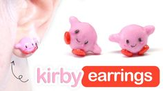 Pokemon Kirby earrings polymer clay tutorial Easy Polymer Clay, Polymer Clay Jewelry, Clay Pokemon, Clay Crafts, Dyi Crafts, Kirby Nintendo, Kawaii Gifts, Nintendo Characters, Japanese Candy