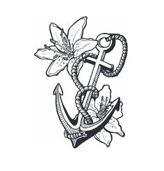 flower and anchor