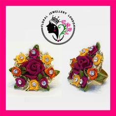 Ring -  Handcrafted Beautiful Floral/Gota Jewellery available for Weddings, Mehndi, Pre-weddings, Engagement, Vatna, Maiyyan, Sangeet, Shagun, Haldi ceremony, Chunni, Kurmai.