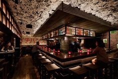 Romp through a riot of Americana meets mid-century Japanese subculture at new Chinatown hotspot ICHIBUNS. Japanese Bar, Japanese Style House, Interior Concept, Interior Design, Bar Street, Street Style, Design Bar Restaurant, Whisky Bar, Bar Design Awards