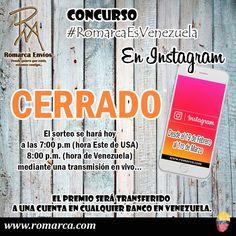 Y tú ¿participaste por los 2 millones de bolívares?🎊🎈 Si lo hiciste ¡mucha suerte! El concurso a través de Instagram ha sido cerrado. El ganador lo anunciaremos HOY a través de una transmisión en vivo. #RomarcaEsVenezuela #Panama #España #Peru #Chile #USA #Venezuela #PuertoRico