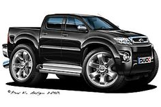 Toyota – One Stop Classic Car News & Tips Toyota Hilux, Tacoma Toyota, Cool Car Drawings, Kart Racing, Truck Art, Toyota Trucks, Weird Cars, Pontiac Firebird, Automotive Art