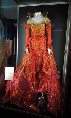 2000 Fire Dress worn by Glenn Close in '102 Dalmations'. 73rd Academy Award Nomination for Best Costume Design Anthony Powell.