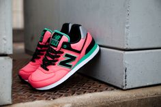 "New Balance 574 ""Windbreaker"" – Watermelon (Another Look) 