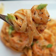 Greek Shrimp Alfredo