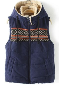 This looks so cute and cozy (so much want) -Knit Block Hat Collar Vest