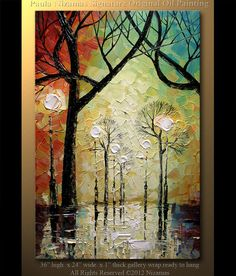 ORIGINAL Signed Modern Palette Knife Oil Abstract  by Nizamas, $350.00