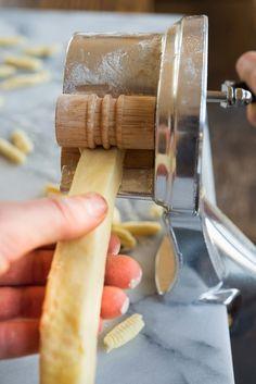 Wild Greens and Sardines : Homemade Ricotta Cavatelli Homemade Cavatelli Recipe, Cavatelli Pasta Recipe, Ravioli Recipe, Homemade Pasta Dough, Pasta Shop, Easy Pasta Recipes, Pasta Ideas, Dinner Recipes, Sicilian Recipes