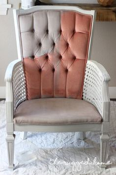 How To Paint Velvet Upholstery - The Easy Way Back in march I picked up these vintage pink velvet chairs on craigslist. I had high hopes for them as they had such good bones. Cane chairs are my ultimate fav… Velvet Furniture, Furniture Diy, Diy Chair, Furniture, Velvet Chair, Reupholstery, Chalk Paint Chairs, Furniture Upholstery, Painting Fabric Furniture