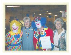 Clowns from Rev. Clarke's retirement party