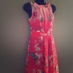 FINAL SALE - Gorgeous floral maxi gown! Ties in the back. Open back. Fabric is very light in weight. Beautiful floral pattern.  **Notice** this is ideal for petite. I am 5'4 ... As you see it runs on the shorter side. Perfect for vacation, spring break, Easter Sunday dress. Dresses Maxi