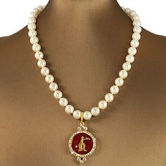 Fortitude Swarovski® Red and Gold Necklace