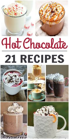 Fall is almost here and it is the perfect time to start grabbing all of my favorite hot chocolate recipes! Is there much better than a cup of hot cocoa on a cold, windy day? There is just something so soothing about that. As usual, the internet has surprised me and shown my recipes I would have never dreamt up on my own. 21 Delicious