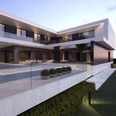 Best home design exterior luxury mansions Ideas Dream Home Design, Home Design Plans, Architecture Design, Modern Villa Design, Contemporary Design, Luxury Homes Dream Houses, Dream House Exterior, Industrial House, Cool House Designs