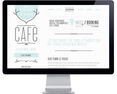 Love, Love, Loveeeeeee the style :) Cafe by Tim Wilden, via Behance