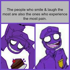 okay if we are talking about Willaim Afton, the one who lost his two kids and caused him to go insane then yeah, this is true. But if we are just talking about Rebornicas Vincent. Funny Guys, Funny Memes, Vincent Fnaf, Rebornica Fnaf, Fnaf Security Guards, Fnaf Night Guards, William Afton, Circus Baby, Fnaf Drawings
