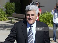 Comedian Jay Leno leaves the Santa Barbara County Courthouse after testifying at…