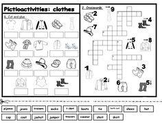 esl activities printouts | Labels: clothes , Games , pictioactivities , trinity level 1