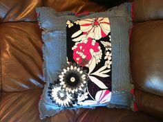 Blue jean pillow