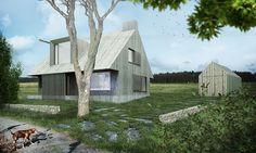 PROJEKTY · Rodinný dům Andělská alej #rodinnydum #krusnehory #drevostavba