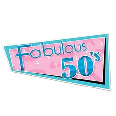 Fabulous 50s Cutout Party Wall Hanging - Nostalgiaville USA