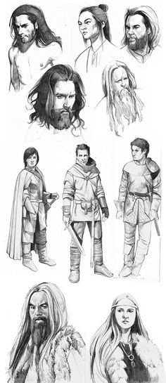 Picked some things from my sktechbook Vikings and knights here. Everyday drawing practice My blog, where I upload also other works - kasiaslupecka.tumblr.com/