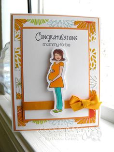 I love the color choices used for this card. This card was made by Debbie C. a GKD design team illustrator, using Gina K. Designs products