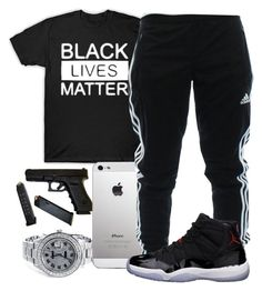 """""""Black Lives Matter"""" by young-rich-nvgga ❤ liked on Polyvore featuring adidas, Freaker, men's fashion and menswear"""