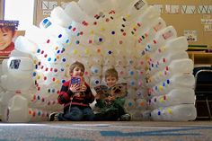 milk carton igloo by TownePost Network, via Flickr.Need to drink a lot of milk!