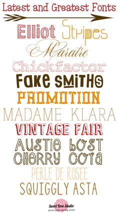 Sweet Rose Studio: The Latest and Greatest Free Fonts