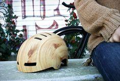 Wooden helmet